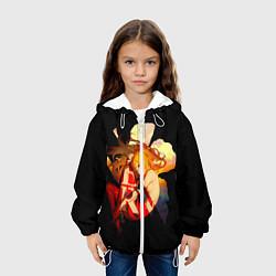Куртка 3D с капюшоном для ребенка Аска Евангелион Nerv - фото 2