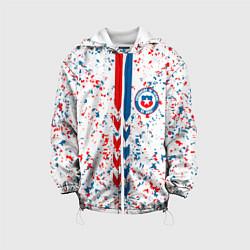 Куртка с капюшоном детская Сборная Чили цвета 3D-белый — фото 1