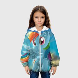 Детская 3D-куртка с капюшоном с принтом My littlle pony, цвет: 3D-белый, артикул: 10063817905458 — фото 2