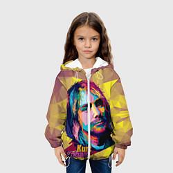 Куртка с капюшоном детская Kurt Cobain: Abstraction цвета 3D-белый — фото 2