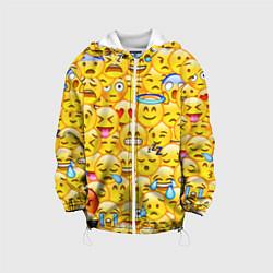 Куртка с капюшоном детская Emoji цвета 3D-белый — фото 1