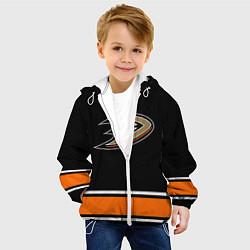 Детская 3D-куртка с капюшоном с принтом Anaheim Ducks Selanne, цвет: 3D-белый, артикул: 10071132505458 — фото 2