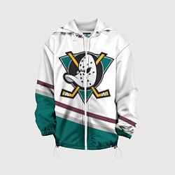 Куртка с капюшоном детская Anaheim Ducks Selanne цвета 3D-белый — фото 1