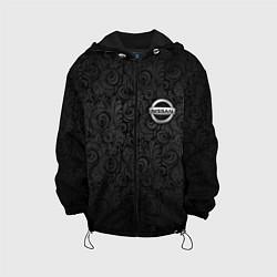 Детская 3D-куртка с капюшоном с принтом Nissan, цвет: 3D-черный, артикул: 10075416505458 — фото 1