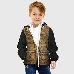 Детская 3D-куртка с капюшоном с принтом Жилетка охотника, цвет: 3D-белый, артикул: 10077041905458 — фото 2
