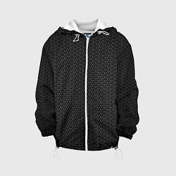 Детская 3D-куртка с капюшоном с принтом Metal Texture, цвет: 3D-белый, артикул: 10077791905458 — фото 1
