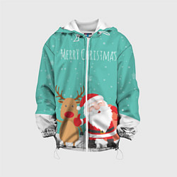 Куртка 3D с капюшоном для ребенка Merry Christmas - фото 1