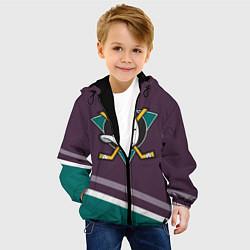Детская 3D-куртка с капюшоном с принтом Anaheim Ducks Selanne, цвет: 3D-черный, артикул: 10081945705458 — фото 2
