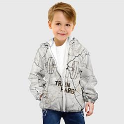 Куртка с капюшоном детская Train hard цвета 3D-белый — фото 2