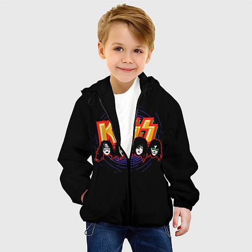 Детская куртка KISS: Death Faces / 3D-Черный – фото 4