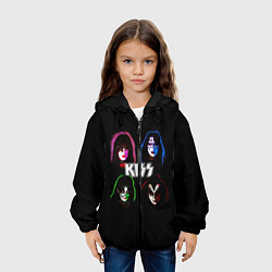 Куртка с капюшоном детская KISS: Acid Colours цвета 3D-черный — фото 2