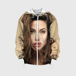 Куртка с капюшоном детская Анжелина Джоли цвета 3D-белый — фото 1
