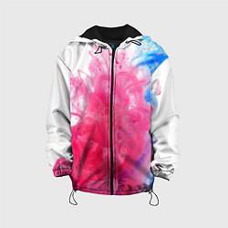 Детская 3D-куртка с капюшоном с принтом Взрыв красок, цвет: 3D-черный, артикул: 10085210605458 — фото 1
