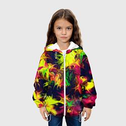 Куртка с капюшоном детская Кислотный взрыв цвета 3D-белый — фото 2
