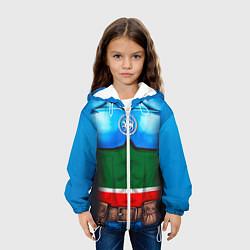 Детская 3D-куртка с капюшоном с принтом Капитан Татарстан, цвет: 3D-белый, артикул: 10086777805458 — фото 2