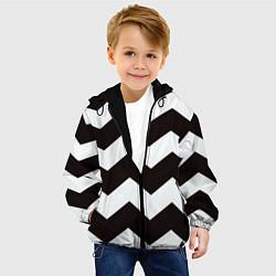 Куртка с капюшоном детская Полосы цвета 3D-черный — фото 2
