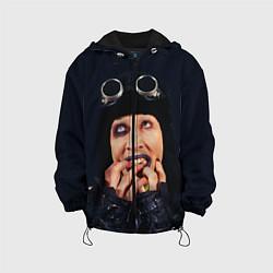 Куртка с капюшоном детская Mаrilyn Manson: Biker цвета 3D-черный — фото 1