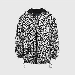 Куртка с капюшоном детская Английский алфавит цвета 3D-черный — фото 1