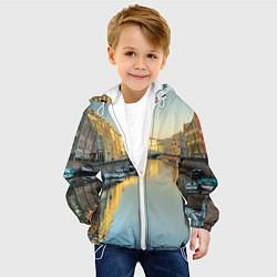 Куртка с капюшоном детская Питер цвета 3D-белый — фото 2