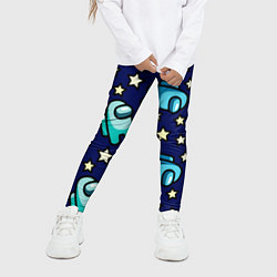 Детские 3D-лосины для девочки с принтом Among Us Звёзды, цвет: 3D, артикул: 10284637905603 — фото 2