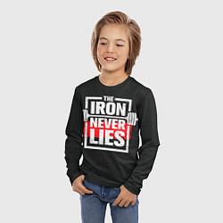 Лонгслив детский The iron never lies цвета 3D — фото 2