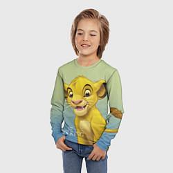 Детский 3D-лонгслив с принтом Юный Симба, цвет: 3D, артикул: 10266094905609 — фото 2