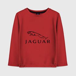 Лонгслив хлопковый детский Jaguar цвета красный — фото 1