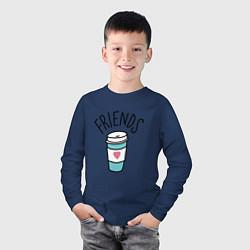 Лонгслив хлопковый детский Best friends цвета тёмно-синий — фото 2