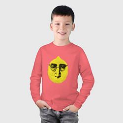 Лонгслив хлопковый детский John Lemon цвета коралловый — фото 2