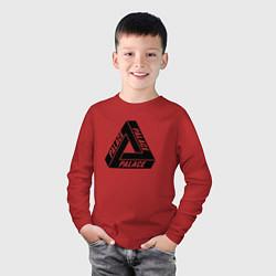 Лонгслив хлопковый детский Palace Triangle цвета красный — фото 2