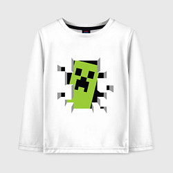Детский лонгслив Crash Minecraft