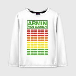 Лонгслив хлопковый детский Armin van Buuren: EQ цвета белый — фото 1