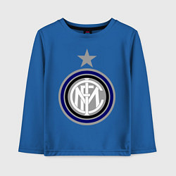 Лонгслив хлопковый детский Inter FC цвета синий — фото 1