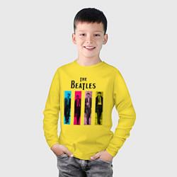 Лонгслив хлопковый детский Walking Beatles цвета желтый — фото 2