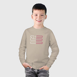 Лонгслив хлопковый детский Introducing Zhu цвета миндальный — фото 2
