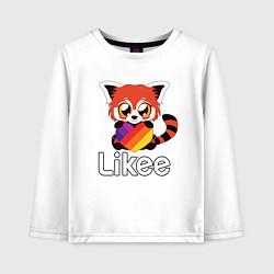 Лонгслив хлопковый детский Likee LIKE Video цвета белый — фото 1