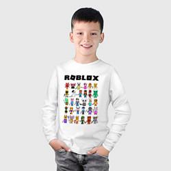 Лонгслив хлопковый детский ROBLOX PIGGY цвета белый — фото 2