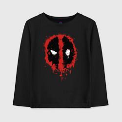 Лонгслив хлопковый детский Deadpool logo цвета черный — фото 1