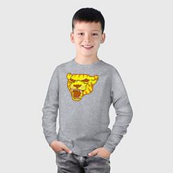 Лонгслив хлопковый детский Tony цвета меланж — фото 2