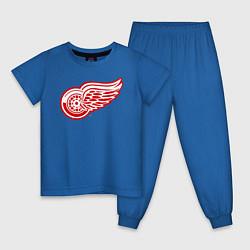 Пижама хлопковая детская Detroit Red Wings цвета синий — фото 1