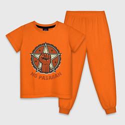 Пижама хлопковая детская No Pasaran цвета оранжевый — фото 1