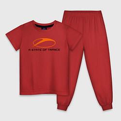 Пижама хлопковая детская A State of Trance цвета красный — фото 1