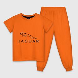 Пижама хлопковая детская Jaguar цвета оранжевый — фото 1