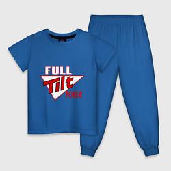 Пижама хлопковая детская Full Tilt Poker цвета синий — фото 1