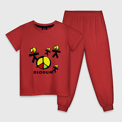 Пижама хлопковая детская Olodum цвета красный — фото 1