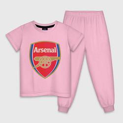 Пижама хлопковая детская Arsenal FC цвета светло-розовый — фото 1