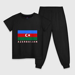 Пижама хлопковая детская Азербайджан цвета черный — фото 1
