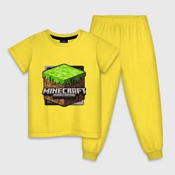 Пижама хлопковая детская Minecraft: Pocket Edition цвета желтый — фото 1