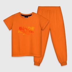 Пижама хлопковая детская Blade Runner 2049 цвета оранжевый — фото 1