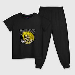 Пижама хлопковая детская Iron Maiden Killers цвета черный — фото 1